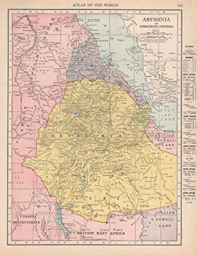 Amazon abyssinia eritrea french somali coast djibouti ethiopia abyssinia eritrea french somali coast djibouti ethiopia rand mcnally 1912 old map gumiabroncs Image collections