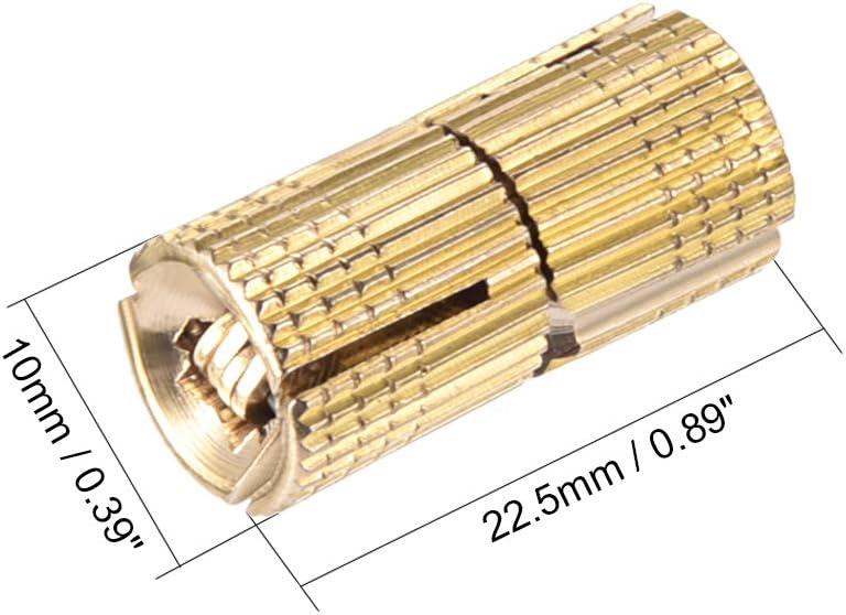 sourcing map 8mm Bisagra invisibles cil/índrica de muebles Bisagra oculta el /ángulo de apertura de 180 grados