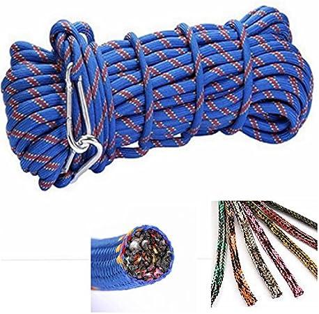 Cuerda de rescate de emergencia que resiste hasta 300 kg y con un diámetro de 10 mm, ideal para montañismo profesional