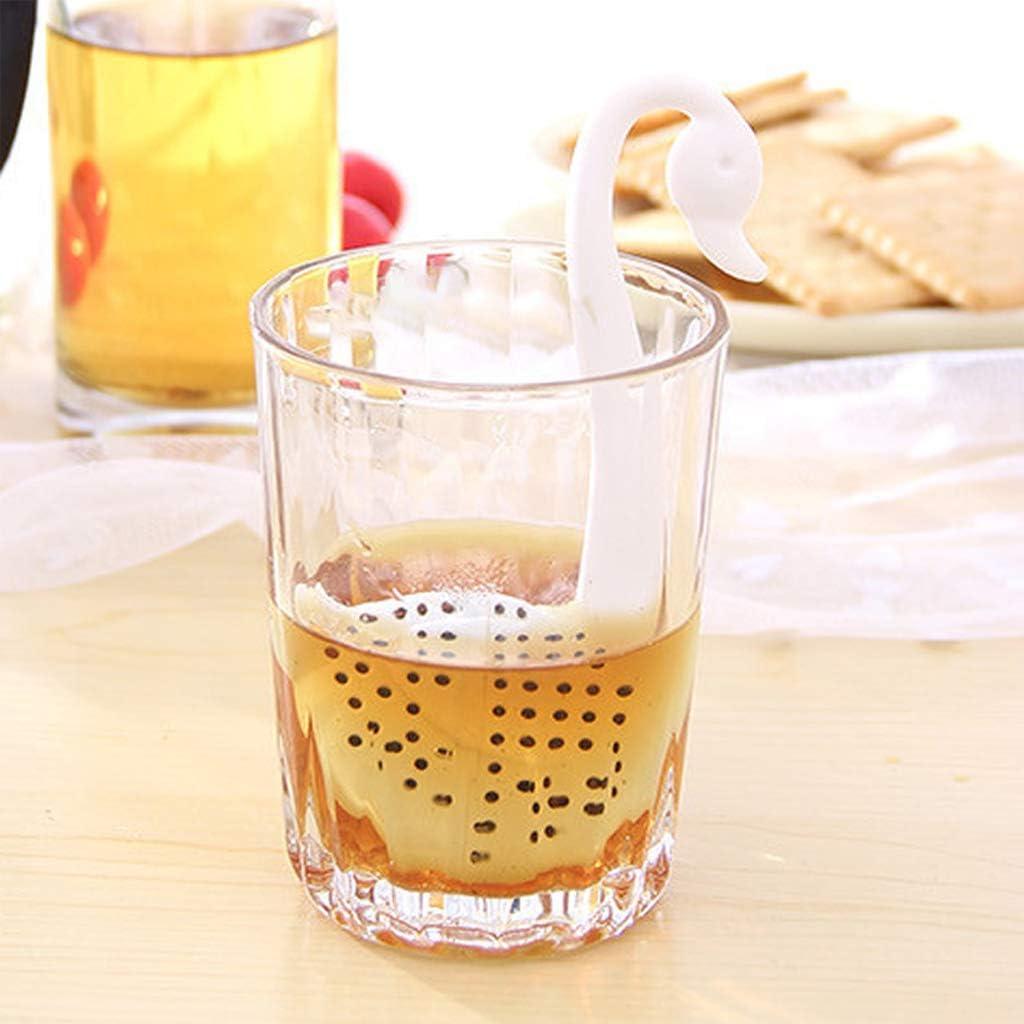 lijun Tea Infuser Set of 6 Animal Shaped Silicone Tea Steeper Ball Strainer Diffuser