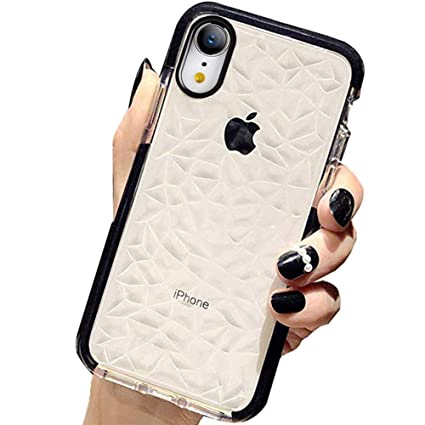 iphone xr case shockproof clear pattern