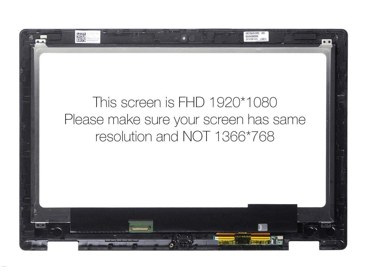 LA-Tronics Replacement Screen for Dell Inspiron 13 7352 7353 FHD 13.3'' IPS LCD Touch Screen Digitizer Assembly by LA-Tronics (Image #2)