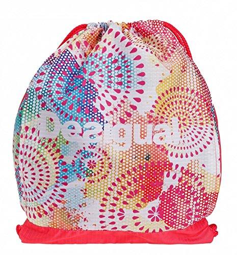 Desigual Bols Gymsack Sporttasche Tasche Damen Fitnesstasche Gymnastikbeutel Paradise Pink