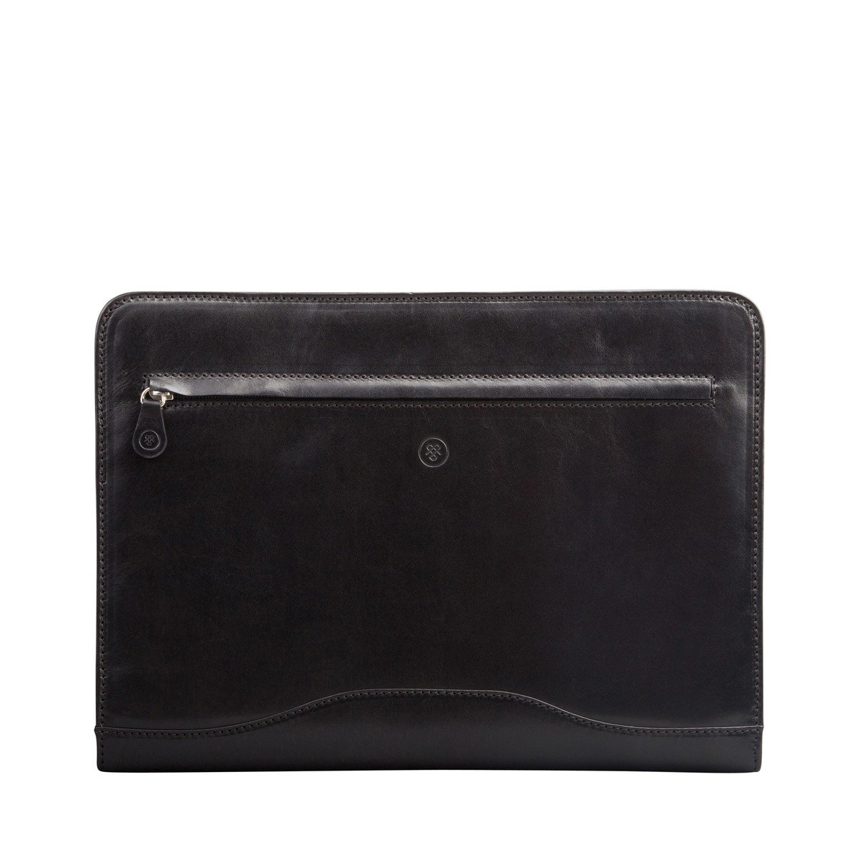 Maxwell Scott Personalized Black Leather Conference Folder with Ringbinder (The Veroli) by Maxwell Scott Bags (Image #2)
