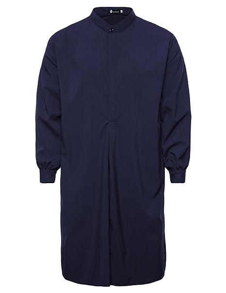 Chaqueta larga de verano para Los hombres con estilo Simple, masculina de largo estilo musulmán Robe, chaqueta de moda de primavera o otoño: Amazon.es: Ropa ...