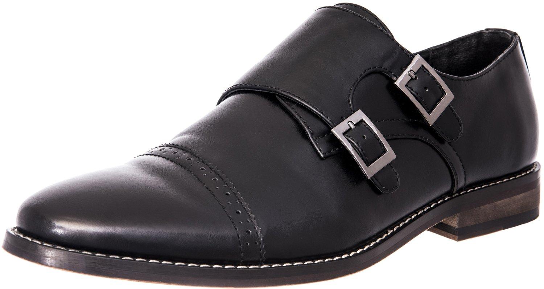 J's.o.l.e Men's Monk Oxford Dress Shoes Black US 12