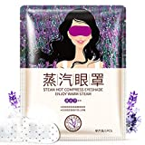 5pcs Lavender Oil Steam Eye Mask Face Care Skin Dark Circle Eye Bags Eliminate Puffy Eyes Fine Line Wrinkles Anti aging crystal eye mask;golden eye mask;eye treatment;eye collagen pad;moisture eye