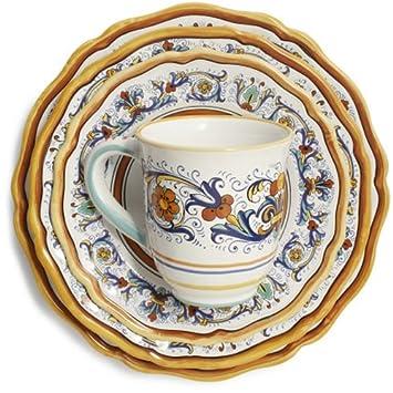 Sur La Table Nova Deruta 16-Piece Dinnerware Set 160  sc 1 st  Amazon.com & Amazon.com | Sur La Table Nova Deruta 16-Piece Dinnerware Set 160 ...