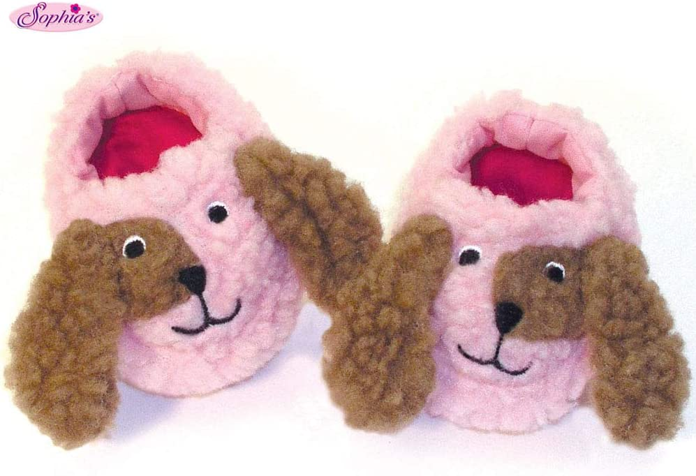 Pair of Adorable Beige Plush Bear Slippers Shoes for 18/'/' AG American Doll Doll