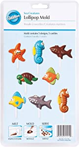 Wilton Sea Creatures Candy Mold, 5 Designs