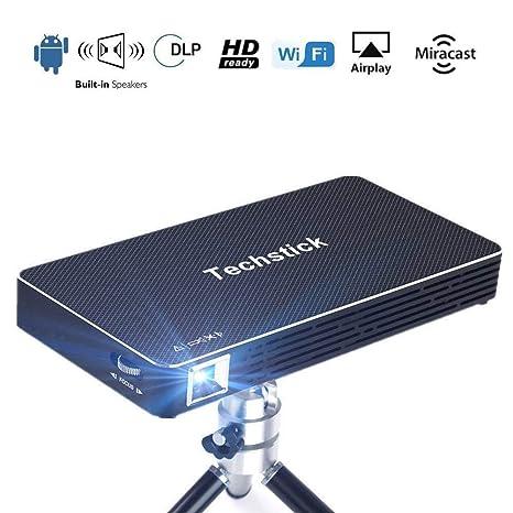 Mini proyector de vídeo portátil WiFi inalámbrico techstick DLP ...