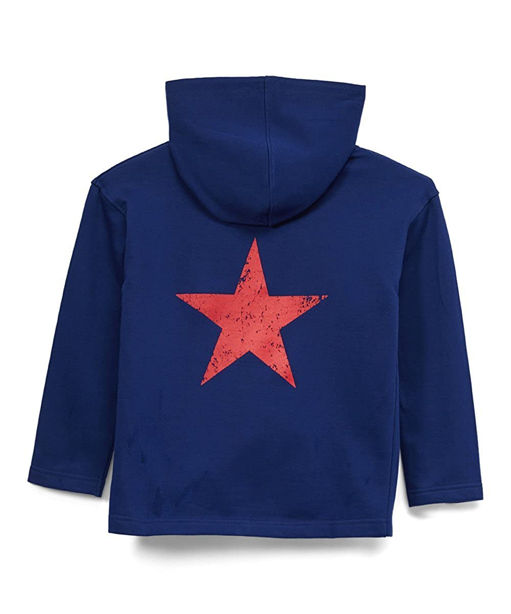 Urban Smalls Navy Distressed Star Zip-up Hoodie