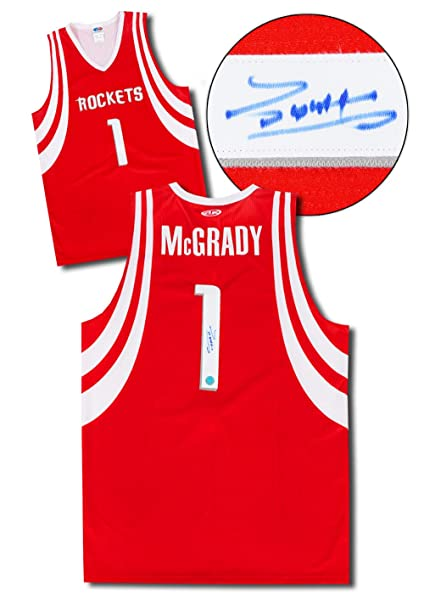 outlet store a7130 0fa0c Tracy McGrady Houston Rockets Autographed Custom Basketball ...