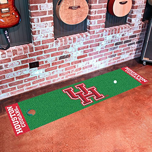 Fanmats Home Indoor sports Team Logo Houston Putting Green Runner Mat 18