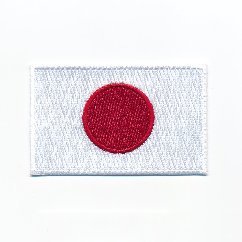 60x 35mm Japon Drapeau Flag Nihon Nippon Tokyo Patch Thermocollant Badges 0931B