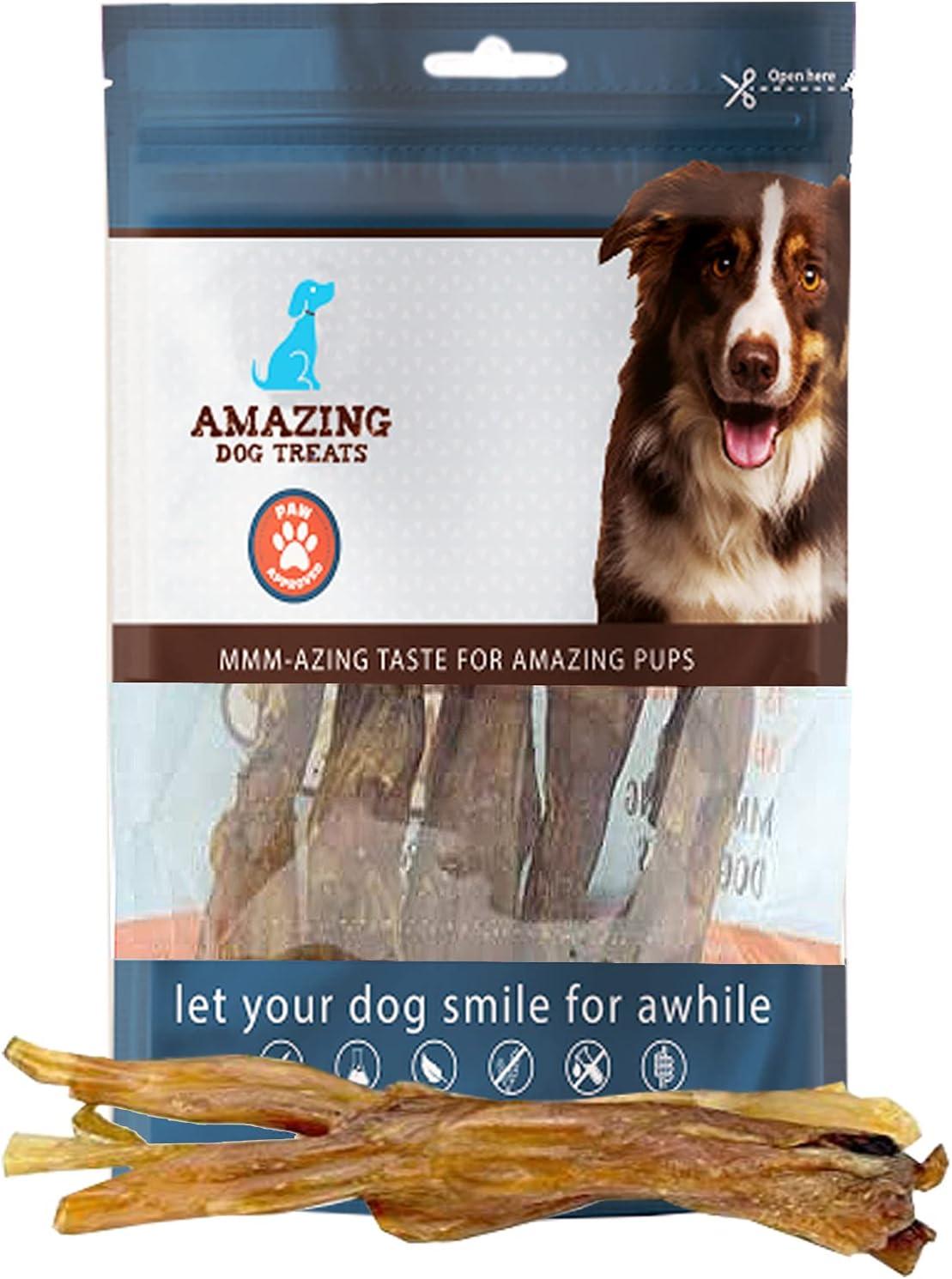 Jumbo Wishbone Beef Tendon Dog Chews (15 pcs/Pack) - 100 % Pure Beef Dog Treats - Beef Bones for Dogs - Tendon Dog Chews