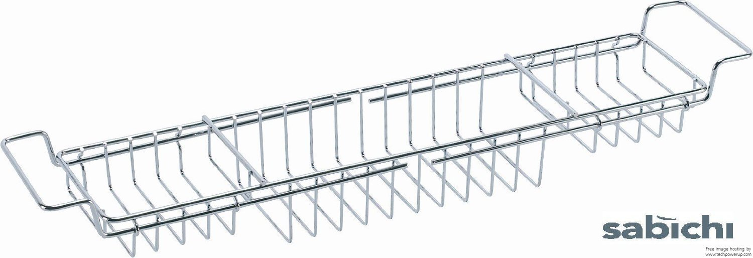 Sabichi Extendable Bath Tub Rack, Chrome Plated 68989