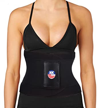 2a6a0aebd5444 Hioffer Waist Trimmer Belt Back Support Adjustable Abdominal Elastic Waist  Trainer Hourglass Body Shaper For Weight