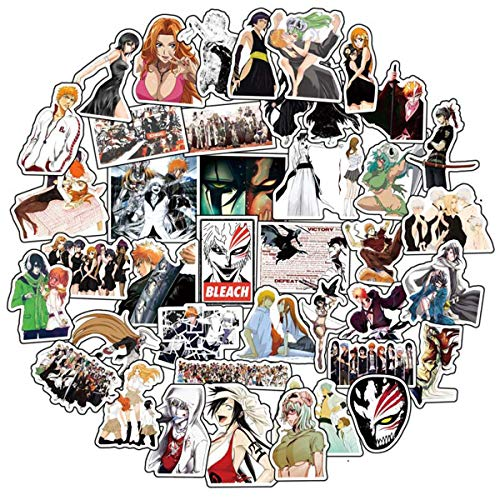 Anime Bleach 50 pcs/Pack Stickers Variety Vinyl Car Sticker Motorcycle Bicycle Luggage Decal Graffiti Patches Skateboard Stickers for Laptop Stickers for Kid and Adult (Bleach)