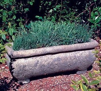 Stone Garden Troughs Garden troughs continental stone plant trough amazon garden troughs continental stone plant trough workwithnaturefo