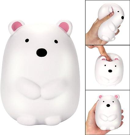 Polar Bear Slow Rising Stress Relief Kawaii Toys,Jumbo Kid Animal Educational Kawaii Toy White