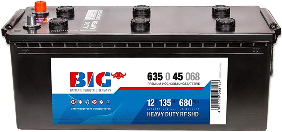 Big Lkw Batterie 12v 135ah 680a Starterbatterie 63545 Elektronik