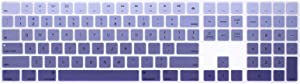 HRH Ombre Dark Purple Silicone Keyboard Cover Keypad Skin for Apple Magic Keyboard with Numeric Keypad A1843 MQ052LL/A Released in 2017 (US Layout)