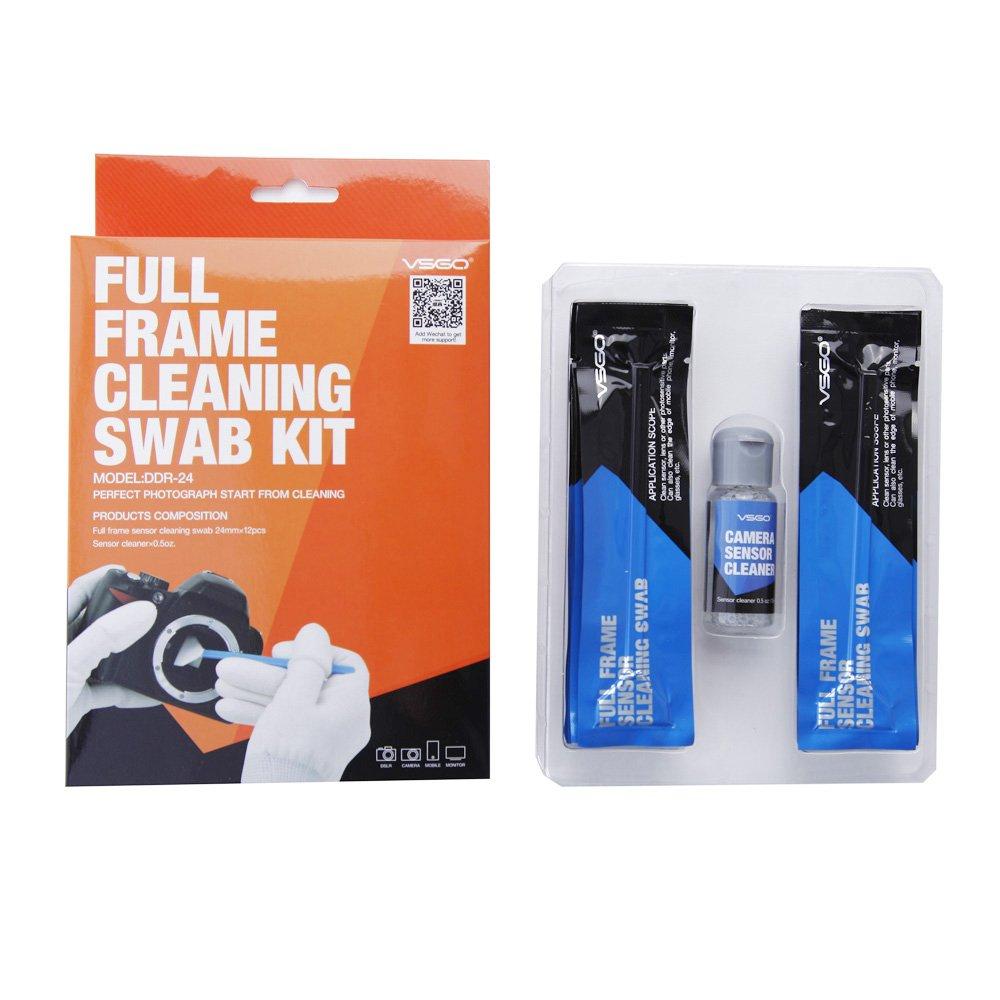 VSGO DDR24 DSLR or SLR Camera Full-Frame Sensor Cleaning Kit (12 X Full Frame Sensor Cleaning Swabs + 15ml Sensor Cleaner)