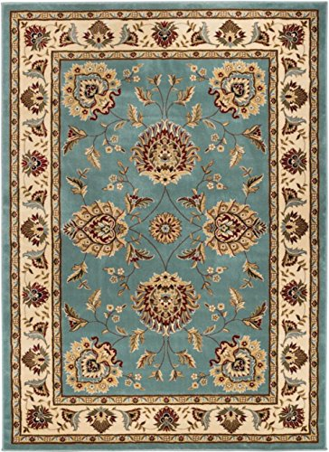 Well Woven 36066 Timeless Abbasi Traditional Persian Oriental Light Blue Area Rug 6'7