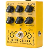 Caline Pedals Driver Guitar Effects Pedal Classic Tube Bass Guitar Amp Pedal Metal Ture Bybass Wine Cellar Yellow CP-60