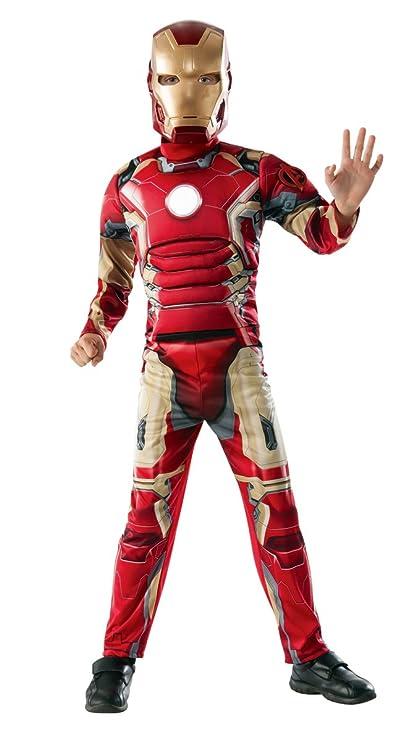 Avengers - Disfraz de Iron Man Deluxe, para niños, talla L ...