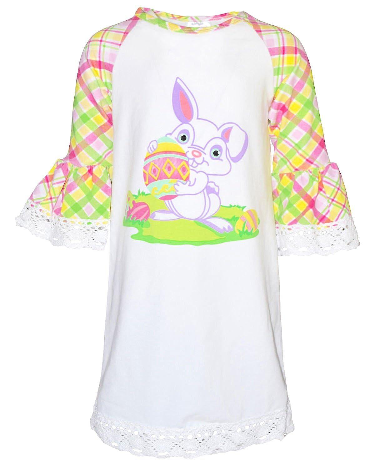 100%品質 一意Baby Easter Girls Easter Bunny Easterシャツドレス Girls 2T 2T ホワイト B06XCD5VQM, ファーストドア:1d9b3772 --- a0267596.xsph.ru