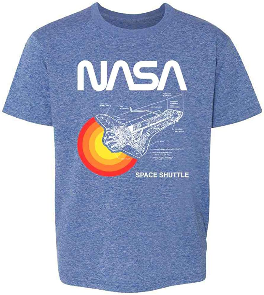 Pop Threads Space Shuttle Diagram NASA Approved Youth Kids T-Shirt
