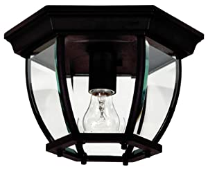 Kenroy Home 16277BL Dural 1-Light Flush Mount, Black