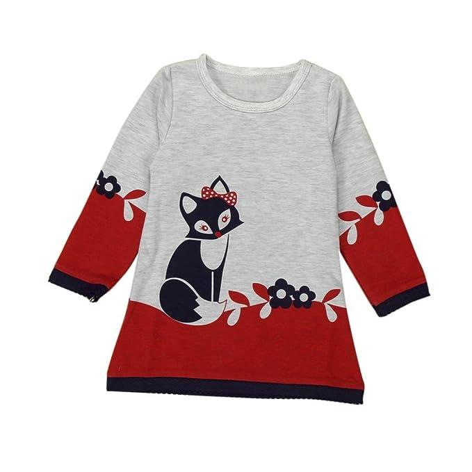 Bekleidung Longra Bekleidung Longra Kinder Mode Mädchen Langarm Fox ...