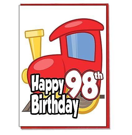 Toy Train - Tarjeta de felicitación de 98º cumpleaños para ...