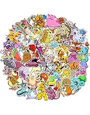 Stickerpakket, 80st Cool Stickers, Laptop Stickers van Pokemon, niet-herhaalbaar, waterdicht, stijlvolle graffiti stickerset voor auto's, motorfietsen, fietsen, skateboards, koffers, doe-het-zelf feestbenodigdheden