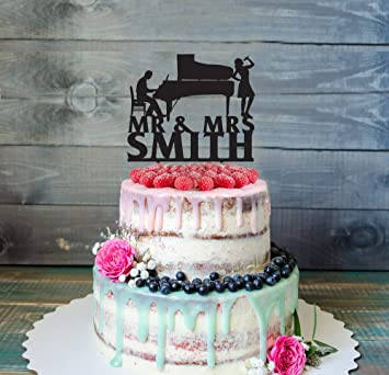 Musicians Wedding Cake Topper Personalized Funny Piano Singer Music Musical Instrument