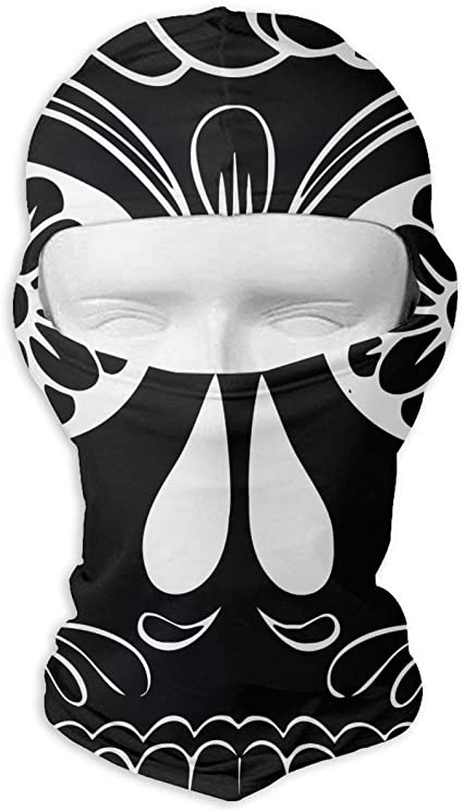Sugar Skull Full Face Mask Balaclava Hood Wind Resistant Face Mask