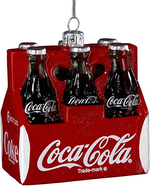 Kurt Adler 3-1/2-Inch Glass Coca-Cola Six Pack Ornament: Amazon.es ...