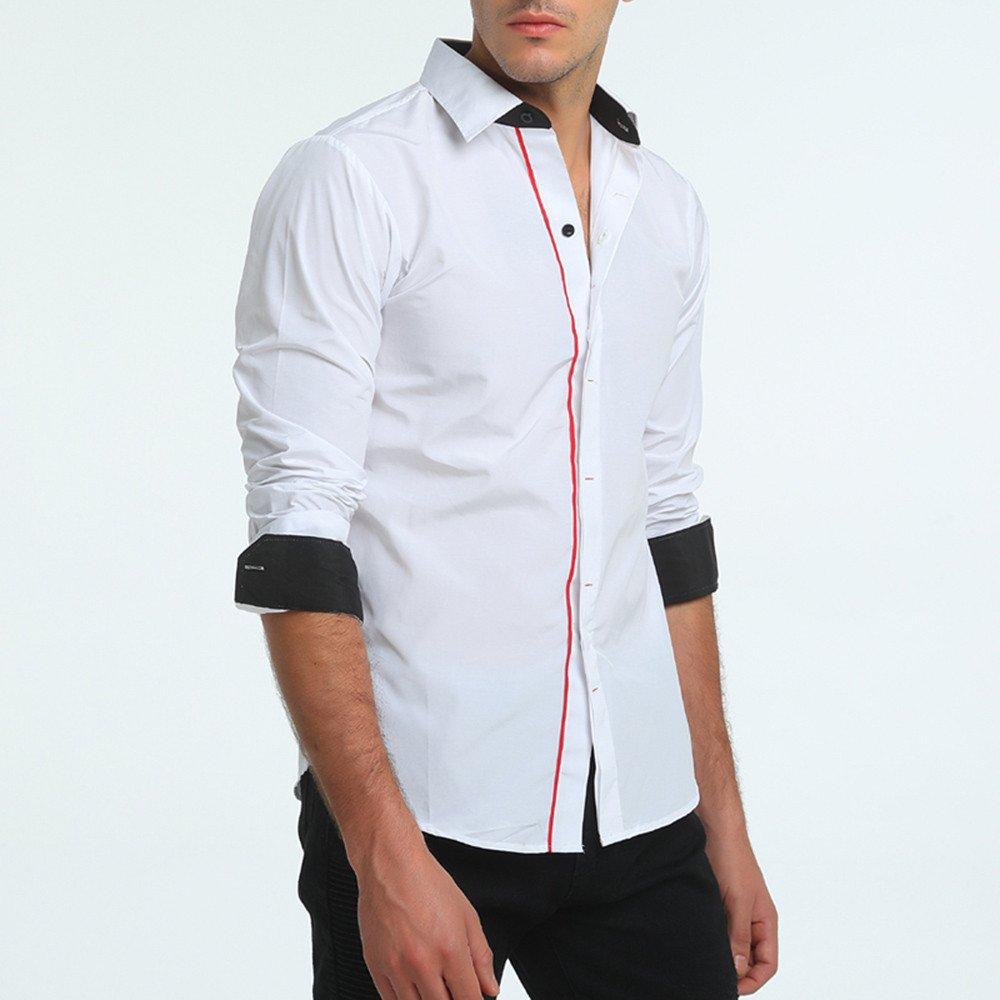 Winwintom -Camisas Hombre Manga Larga con Botones Camisa De Hombre ...