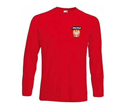 Camiseta Equipo Futbol Polonia Manga Larga Todas Tallas