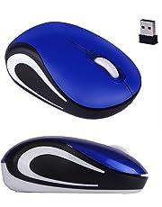 Gaddrt Maus Nette mini 2,4 GHz drahtlose optische Maus Mäuse für PC Laptop Notebook Kabellose Maus 8.5x5.3x2.7cm (Blue)