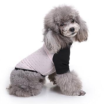 LongYu Ropa para Perros, Mascota Perro pequeño Chaleco a ...