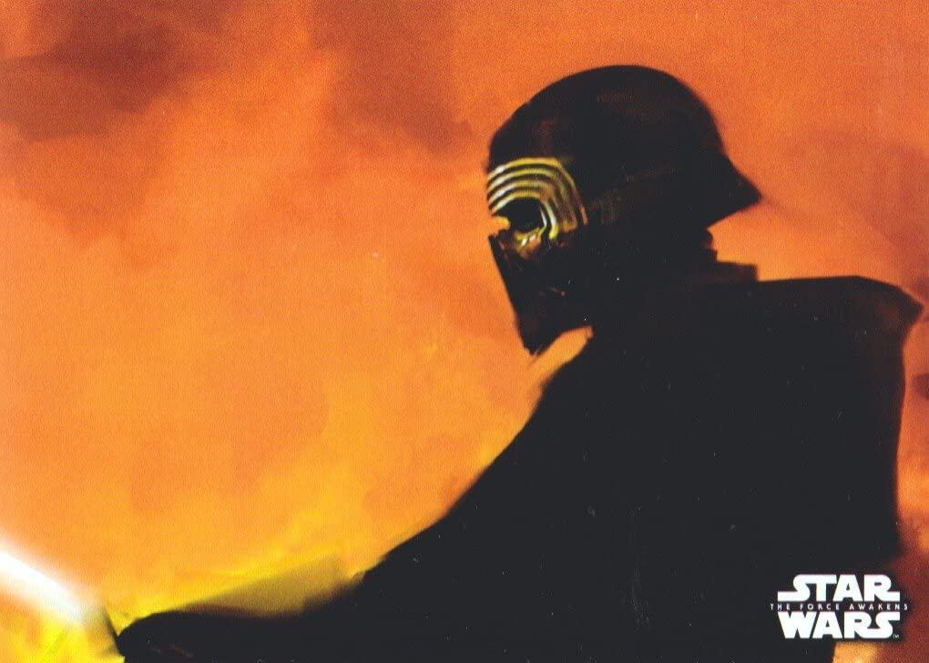 2016 Star Wars The Force Awakens Series #8 Kylo Ren in Flames Concept Art