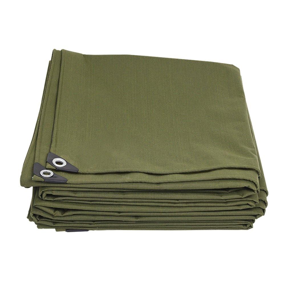 XING ZI tarpaulin X-L-H Starke Segeltuch-Plane Aus Polyethylen Schatten Tuch Im Freien Wasserdichte Schutzabdeckung Leicht Zu Falten -600g   M2, Die Eine Dicke Von 0,7 Mm, Armeegrün, Code 10