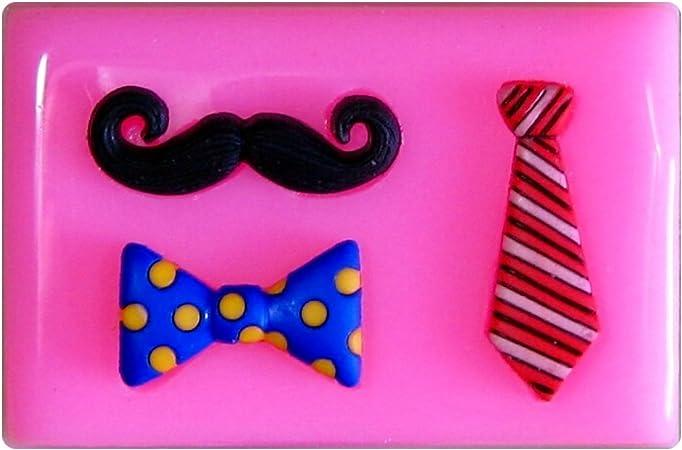Bigote, corbata y arco Dickie Molde de silicona para la torta de ...