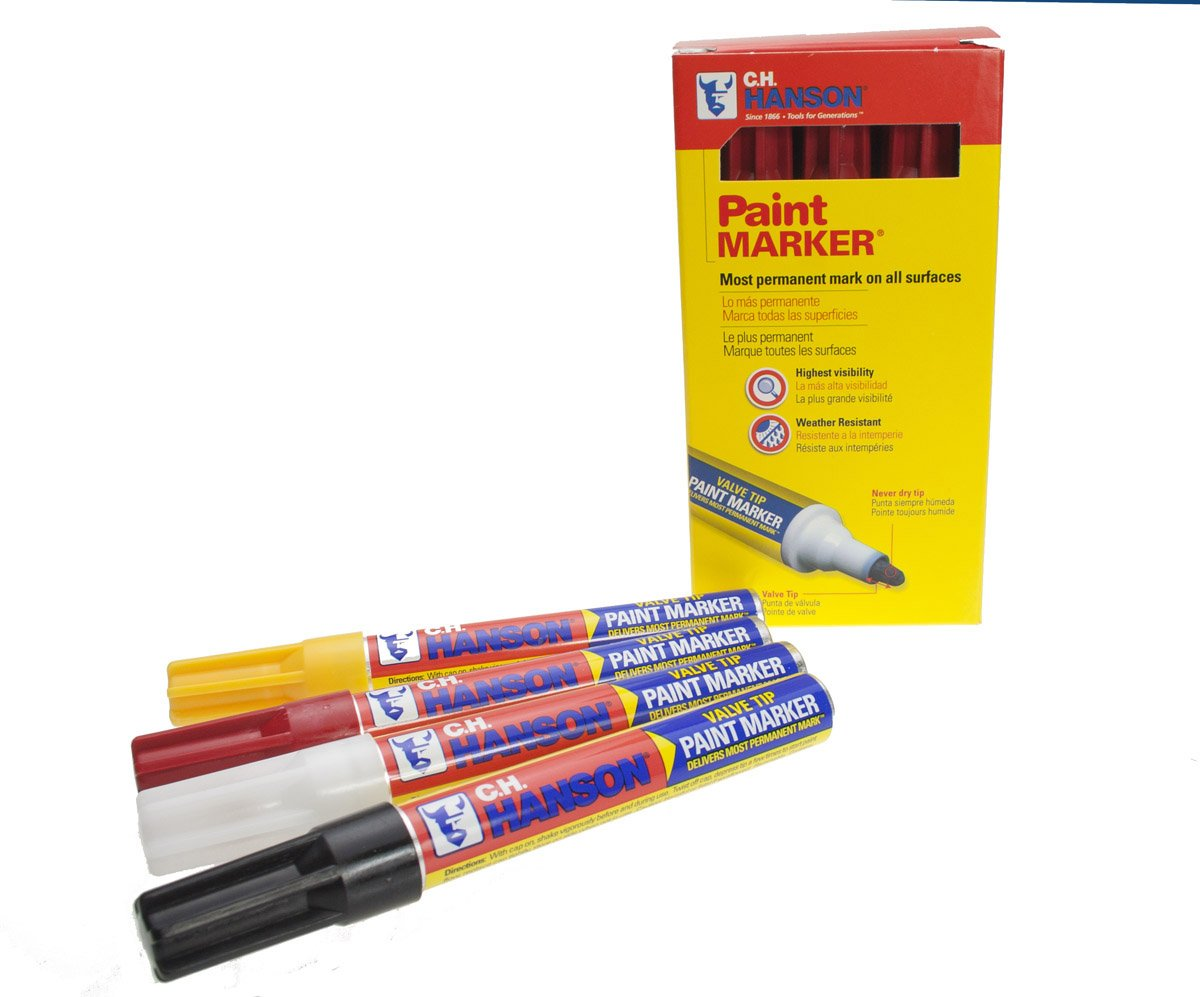 CH Hanson Red Paint Marker Valve Tip, 12-Pack (10297)