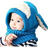 8fc90813cbd Tusong Unisex Baby toddle Kids Winter Hat Scarf Earflap Hood Scarves Skull  Caps