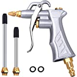 Industrial Air Blow Gun with Brass Adjustable Air Flow Nozzle and 2 Steel Air flow Extension, Pneumatic Air Compressor Access